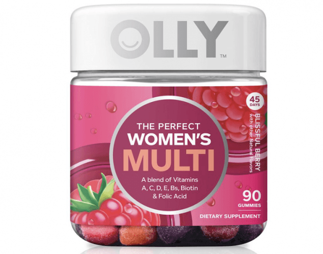 A bottle of OLLY Women's Multi Vitamin.