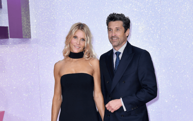 Patrick Dempsey and Jillian Fink at a formal event.