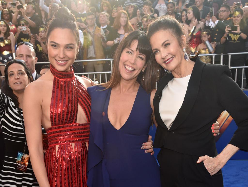 Gal Gadot, Patty Jenkins, and Lynda Carter attend the Wonder Woman premiere