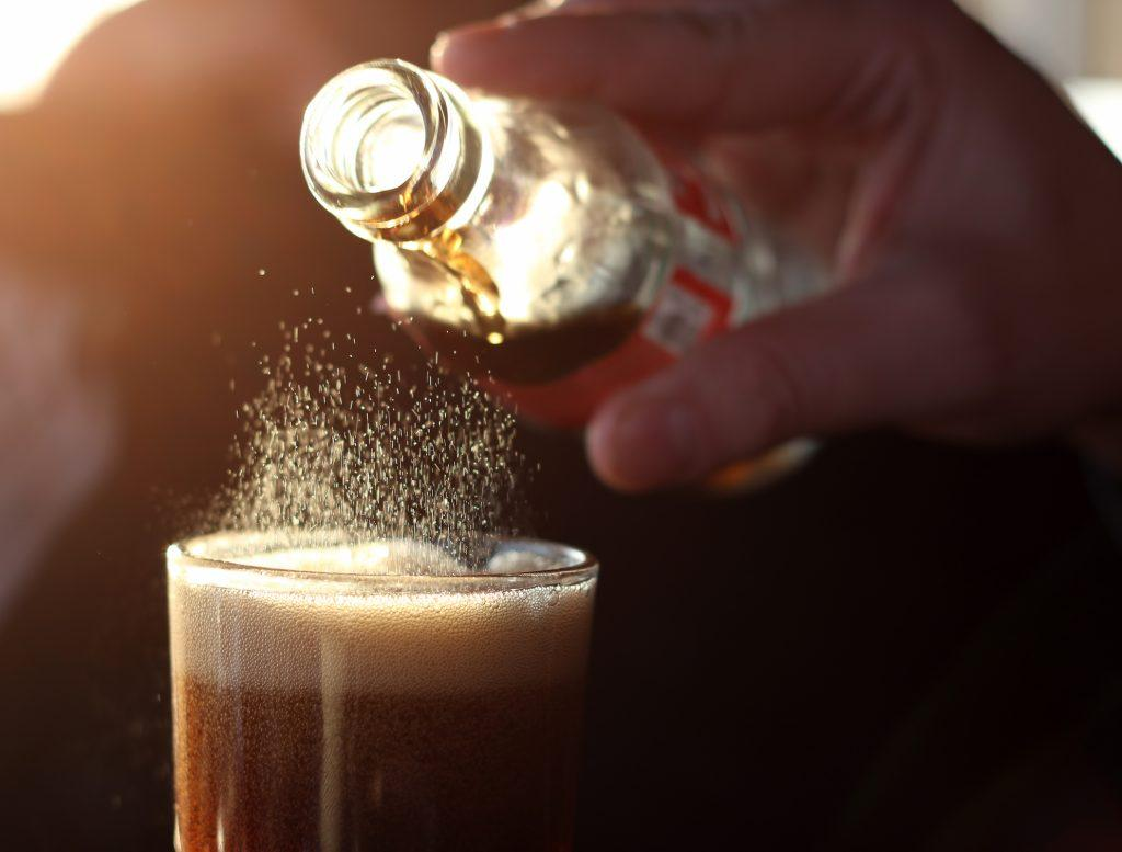 pouring Coke in a glass