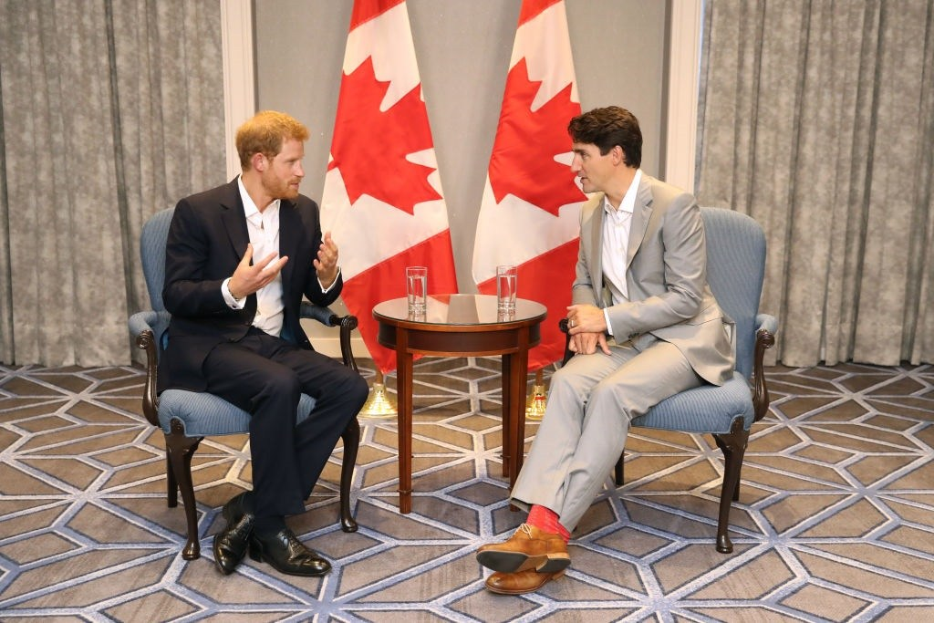 Prince Harry meets with Prime Minister Justin Trudeau