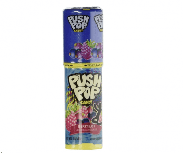 Push Pop in Berry Blast on a white background.