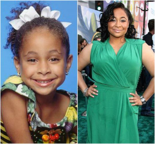 A comparison of Raven-Symon as a child and as an adult.