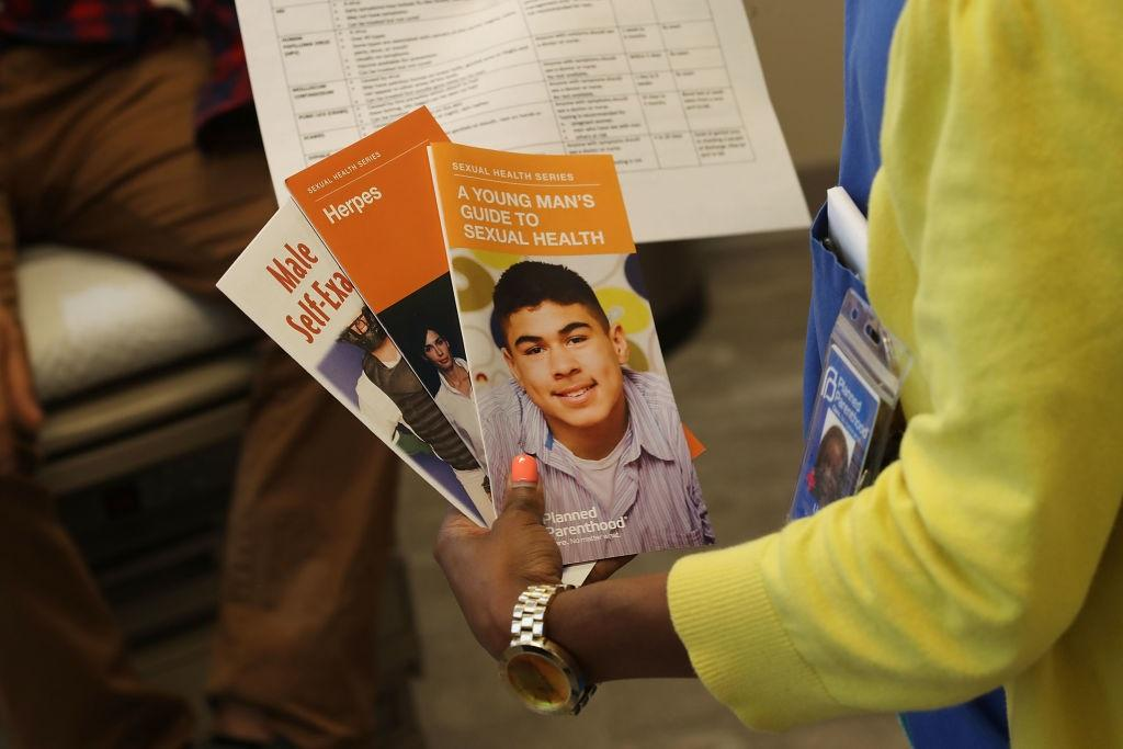STD educational material is given out