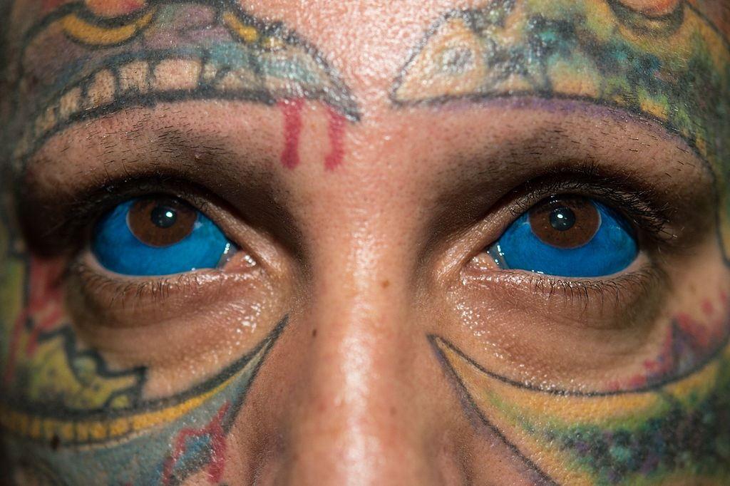 Brazilian tattoo artist Rattoo poses
