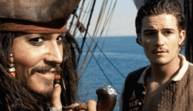 Johnny Depp and Orlando Bloom in 'Pirates of the Caribbean'.