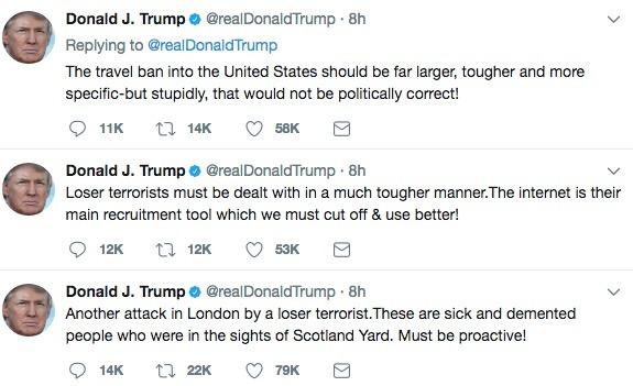 Donald Trump's latest Tweetstorm