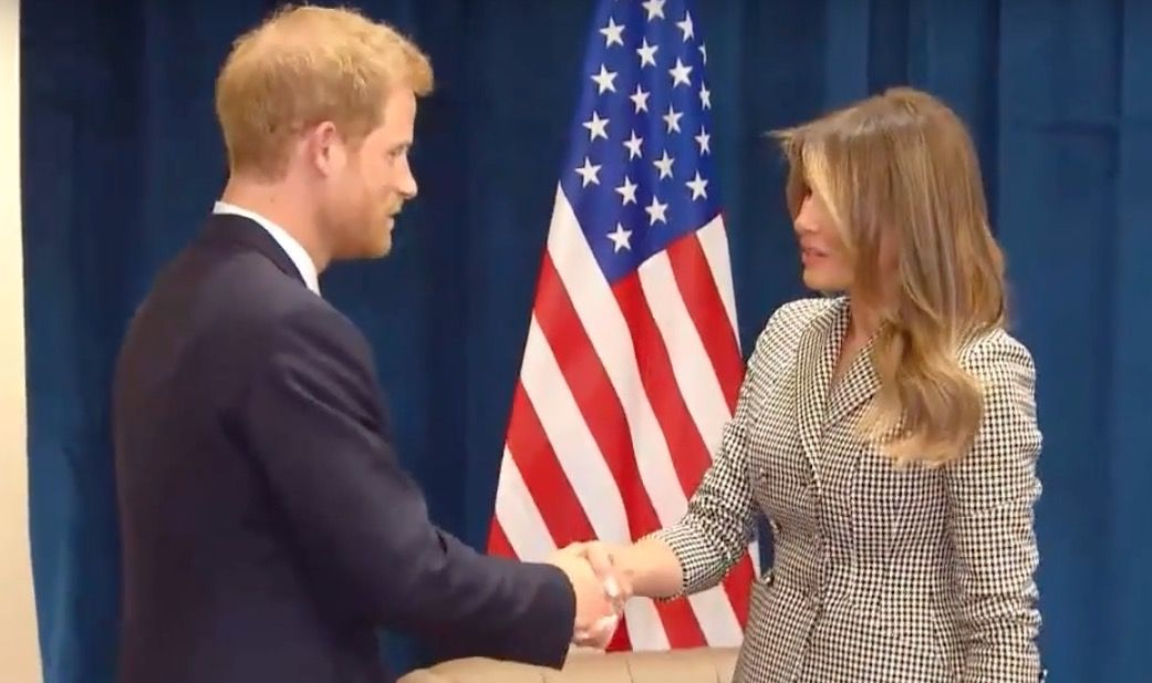 Prince Harry meets Melania Trump