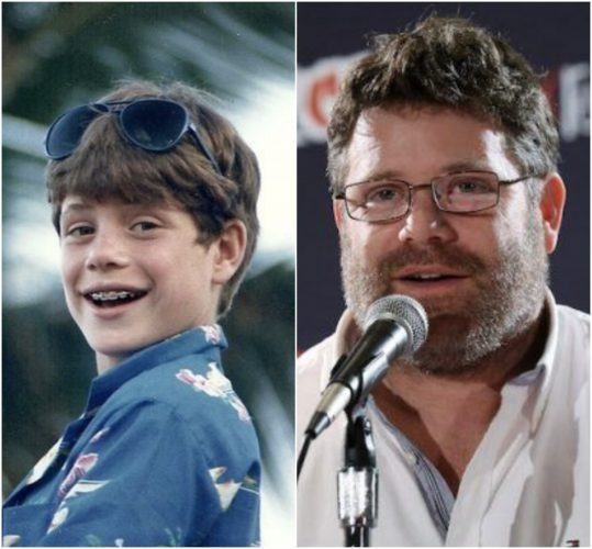 Sean Astin as a young boy and Sean Astin as an adult.