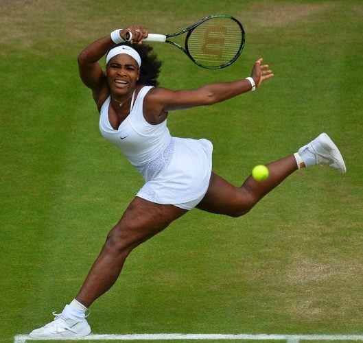 Serena Williams at the 2015 Wimbledon Championships.