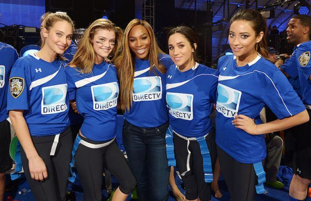 Serena Williams, Meghan Markle, and other celebrities at the Direct TV Beach Bowl.