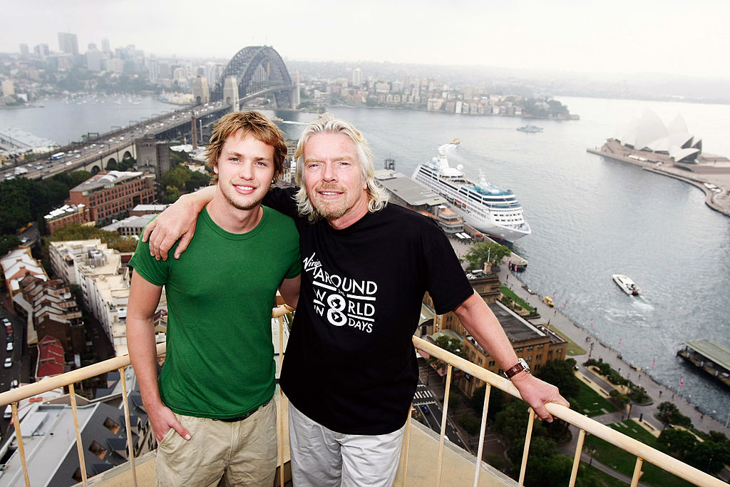 Richard Branson and Sam Branson