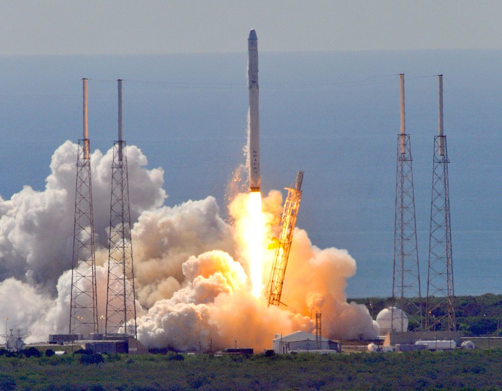 Space X's Falcon 9 rocket lifts off