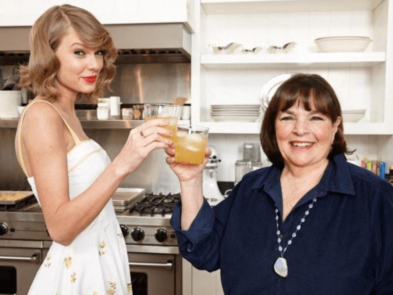 Taylor Swift and Ina Garten in kitchen