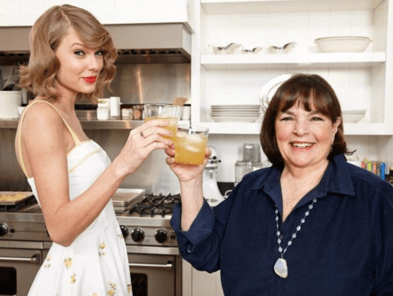 Taylor Swift and Ina Garten in kitchen