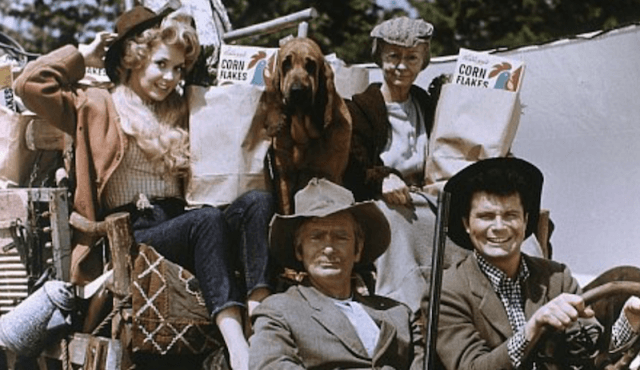 Buddy, Max, Irene and the others sit together in a car as they do groceries.