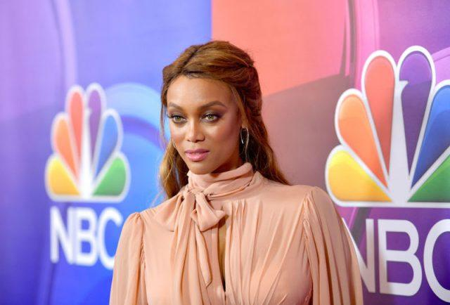 Tyra Banks poses at the NBCUniversal Summer TCA press tour.
