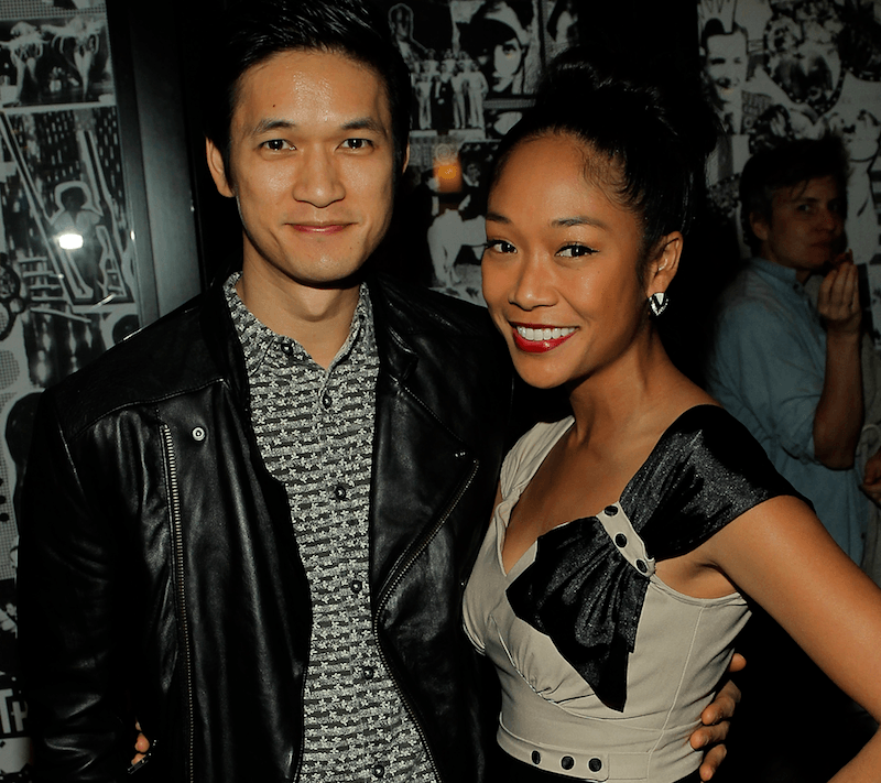 Harry Shum and Shelby Rabara attend the L.A. Dance Project's VIP Reception at The Ace Hotel Theater on February 20, 2014