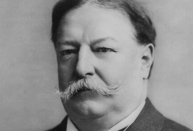 A black and white portrait of William Taft.