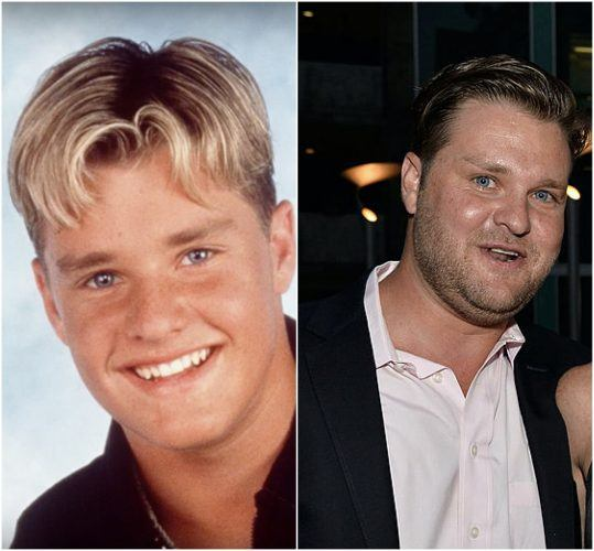 A comparison of Zachary Ty Bryan during his teen career and Zachary Ty Bryan as an adult.