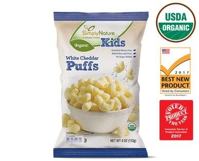 Aldi organic cheese puffs
