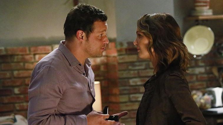 Alex proposing to Jo on Grey's Anatomy