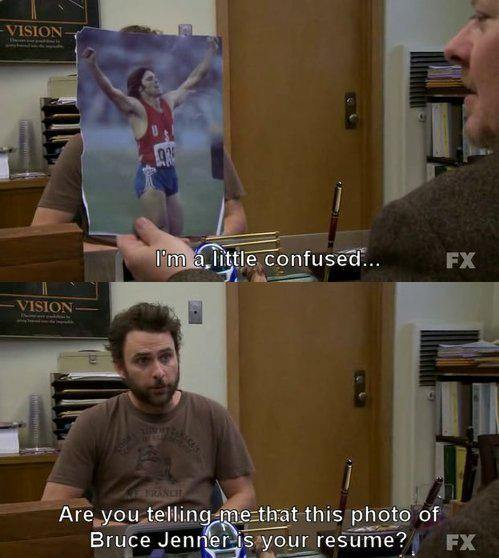 Charlie at a job interview