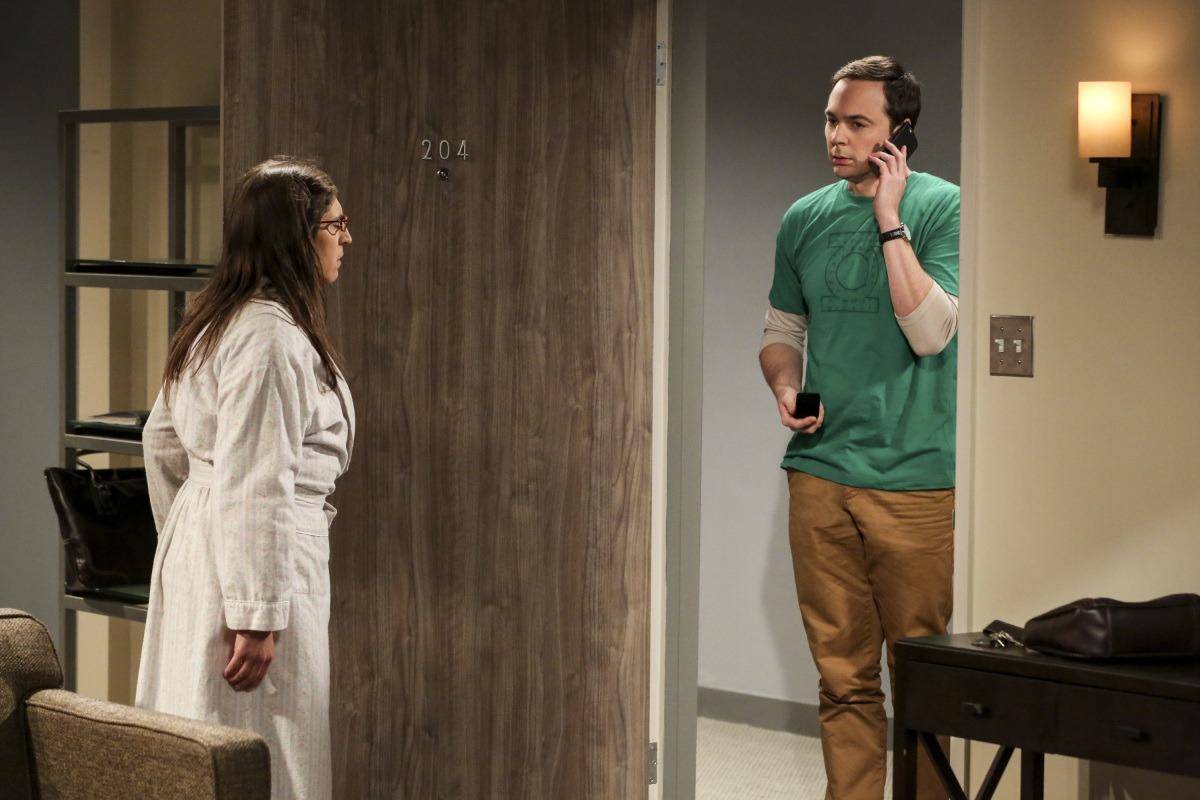 Sheldon proposing to Amy on The Big Bang Theory