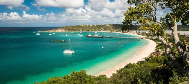 Anguilla island in the Caribbean