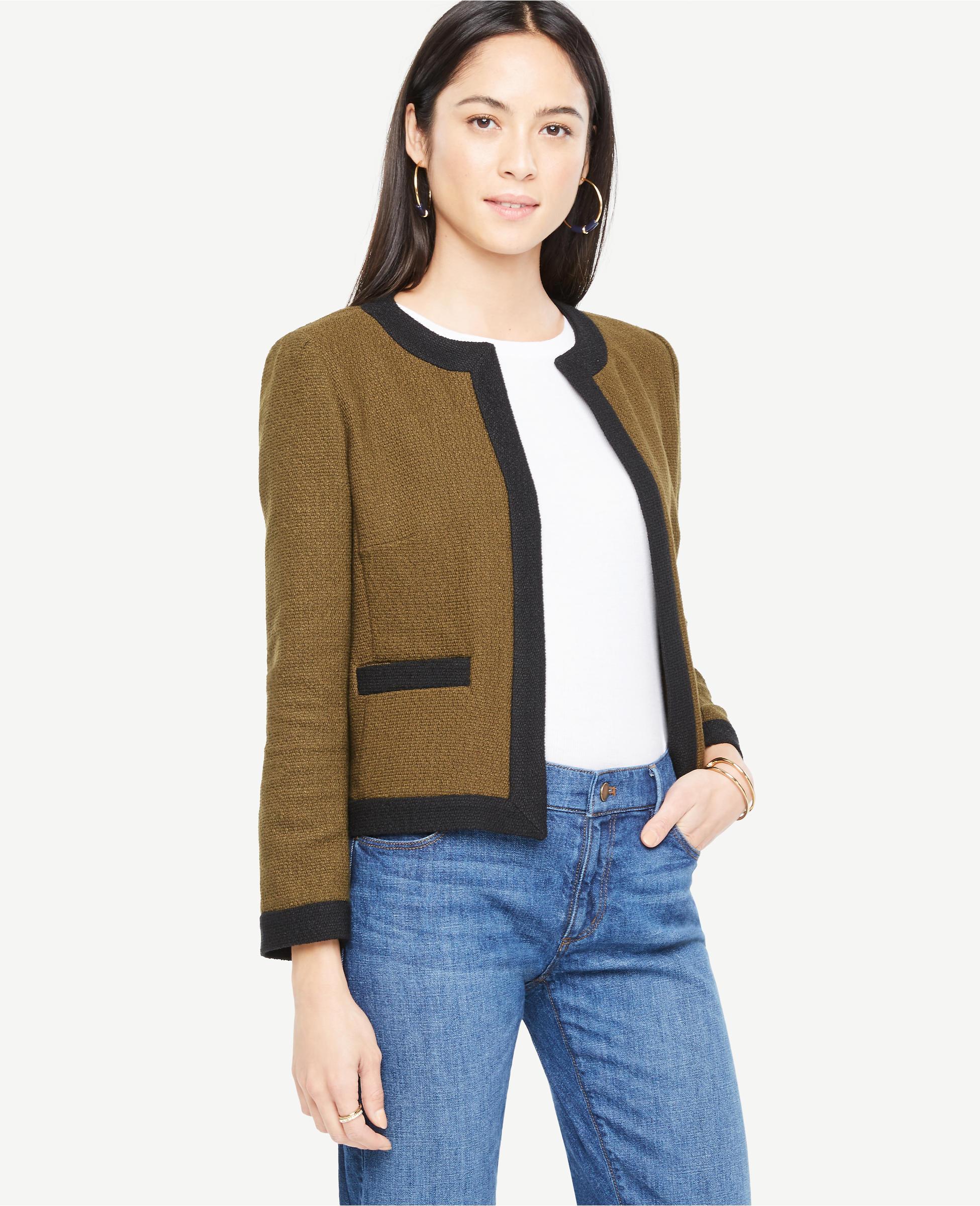 Tweed square cut jacket