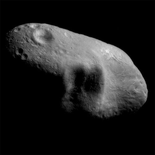 mosaic image of the asteroid Eros