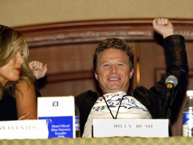 Billy Bush during a press conference