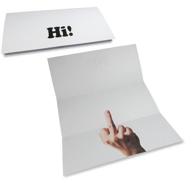Middle finger card
