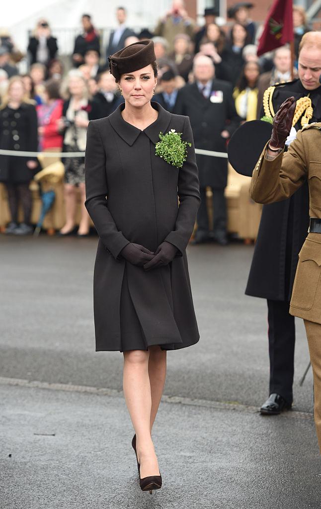 Kate Middleton wearing black