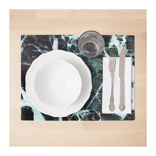 Ikea green marble placemat