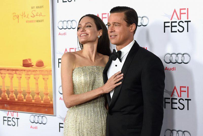 Angelina Jolie and Brad Pitt in 2015