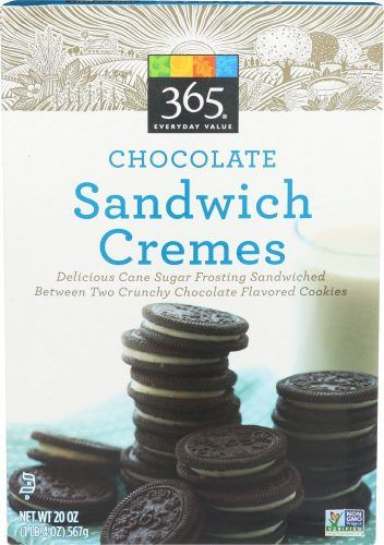 Chocolate sandwich cremes