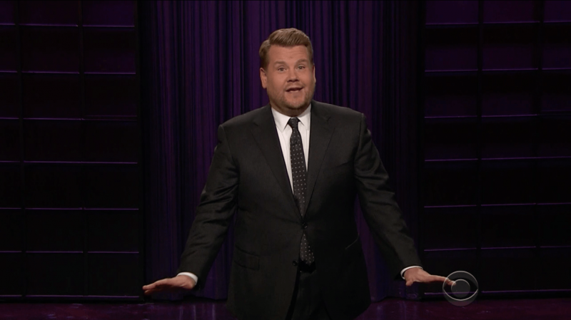 James Corden on 'The Late Late Show.'