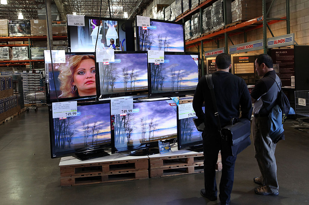 Costco TV display