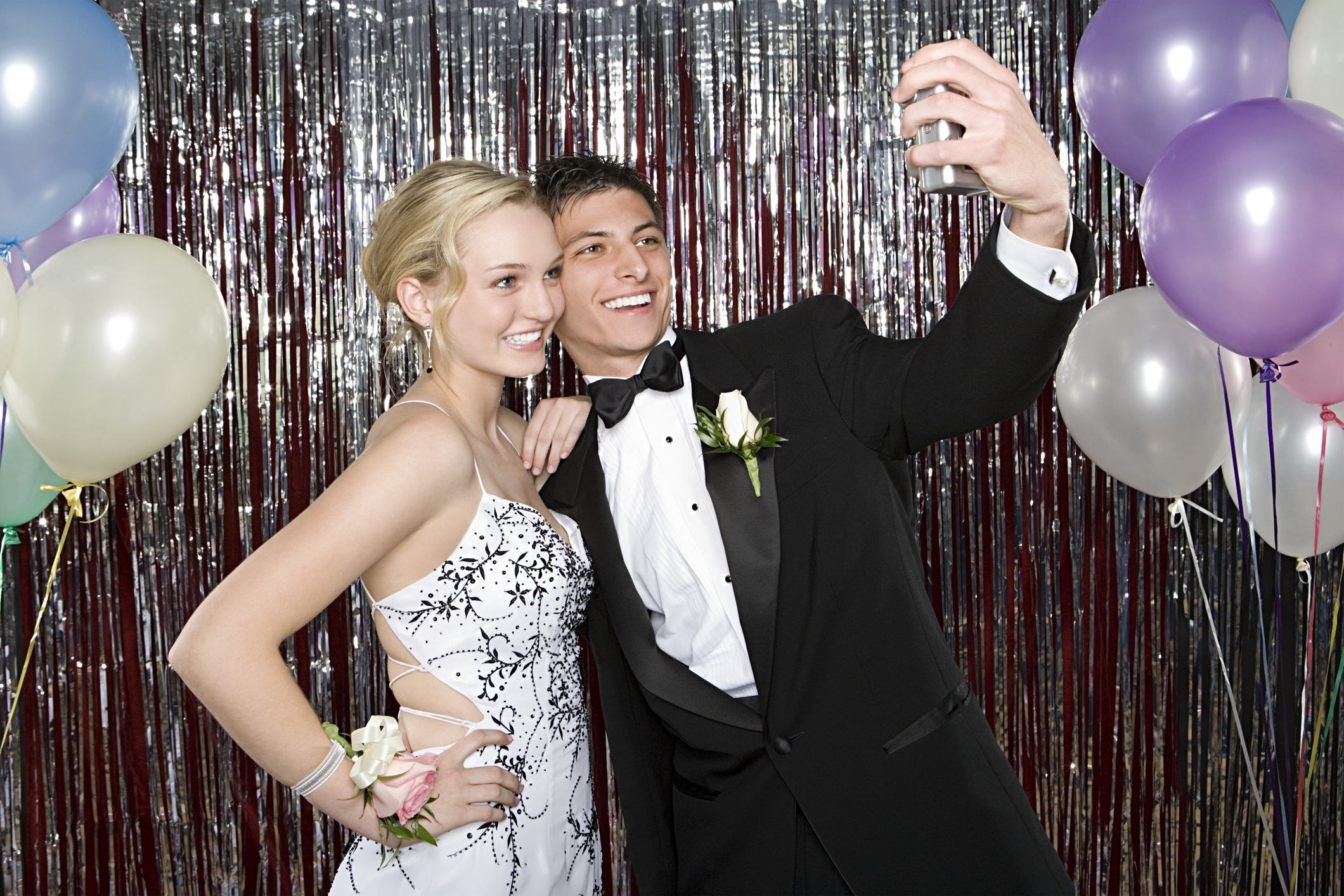 Boy and Girl at prom