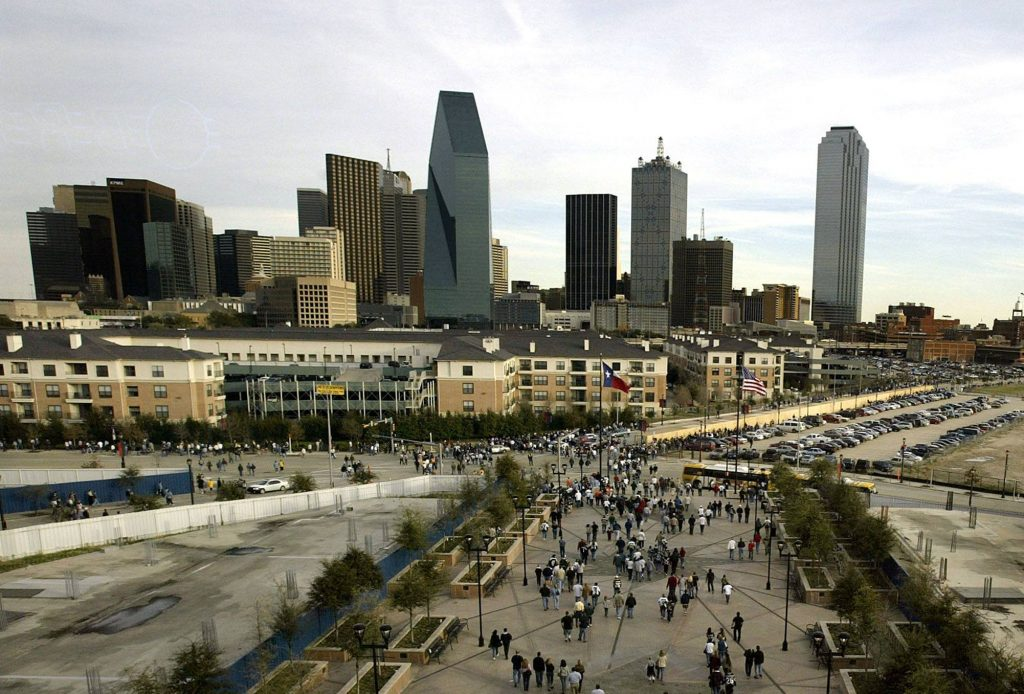A general view of the Dallas skyline