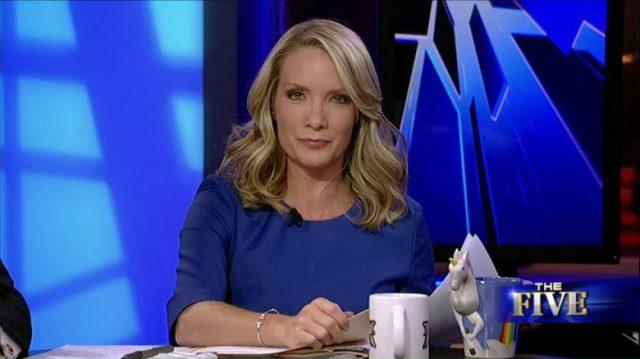 Dana Perino sitting behind a desk on 'The Five'.