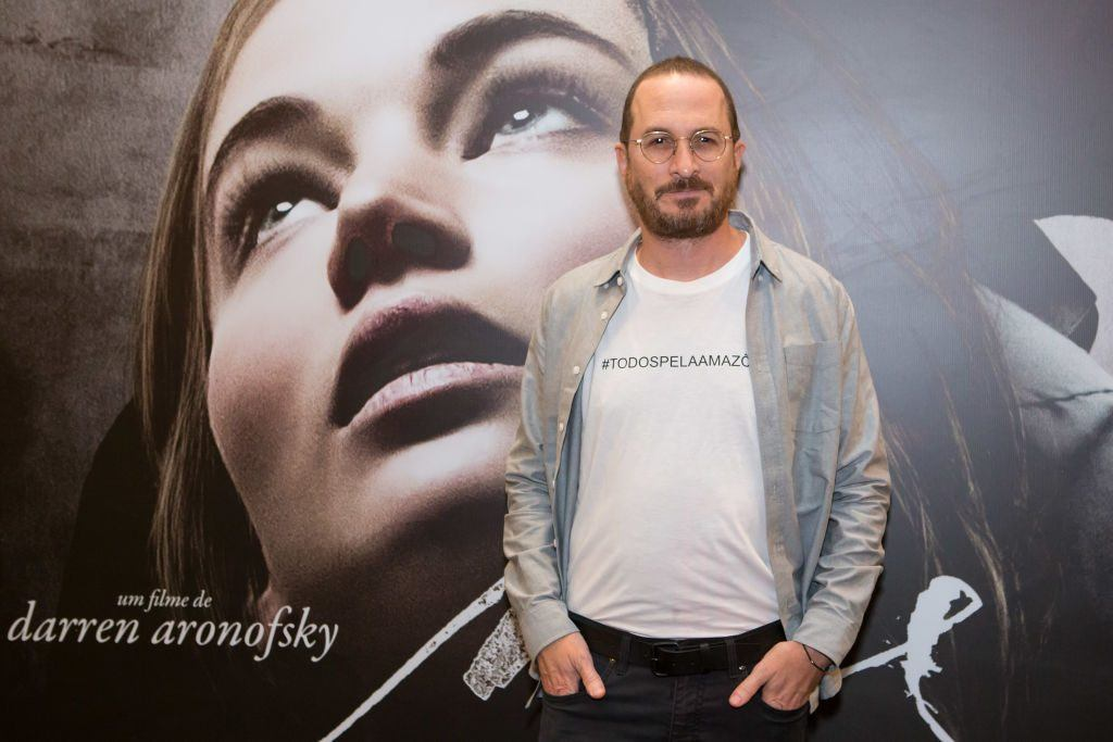 Darren Aronofsky at a press conference for mother!