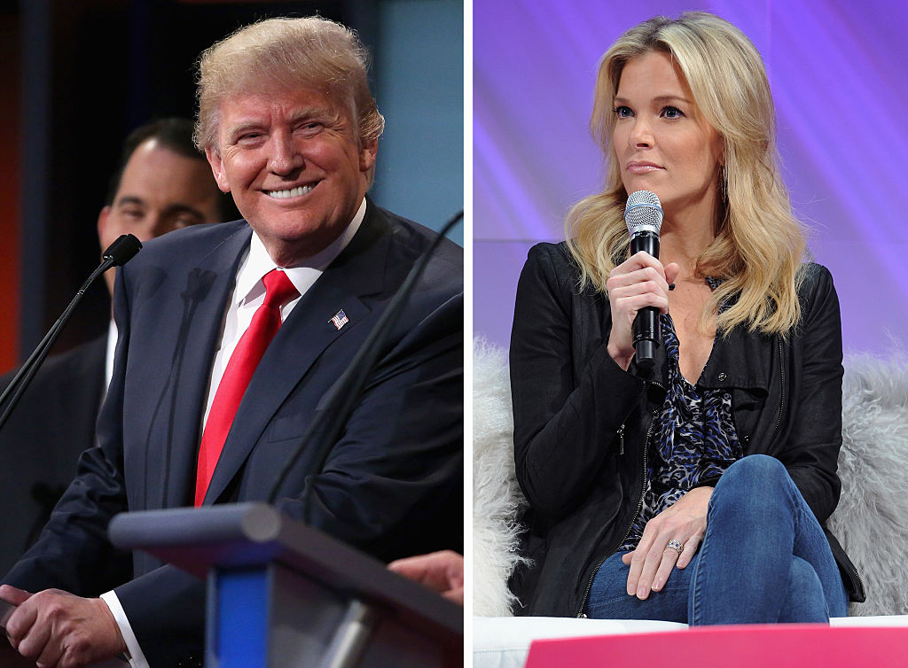 Donald Trump and Megyn Kelly composite