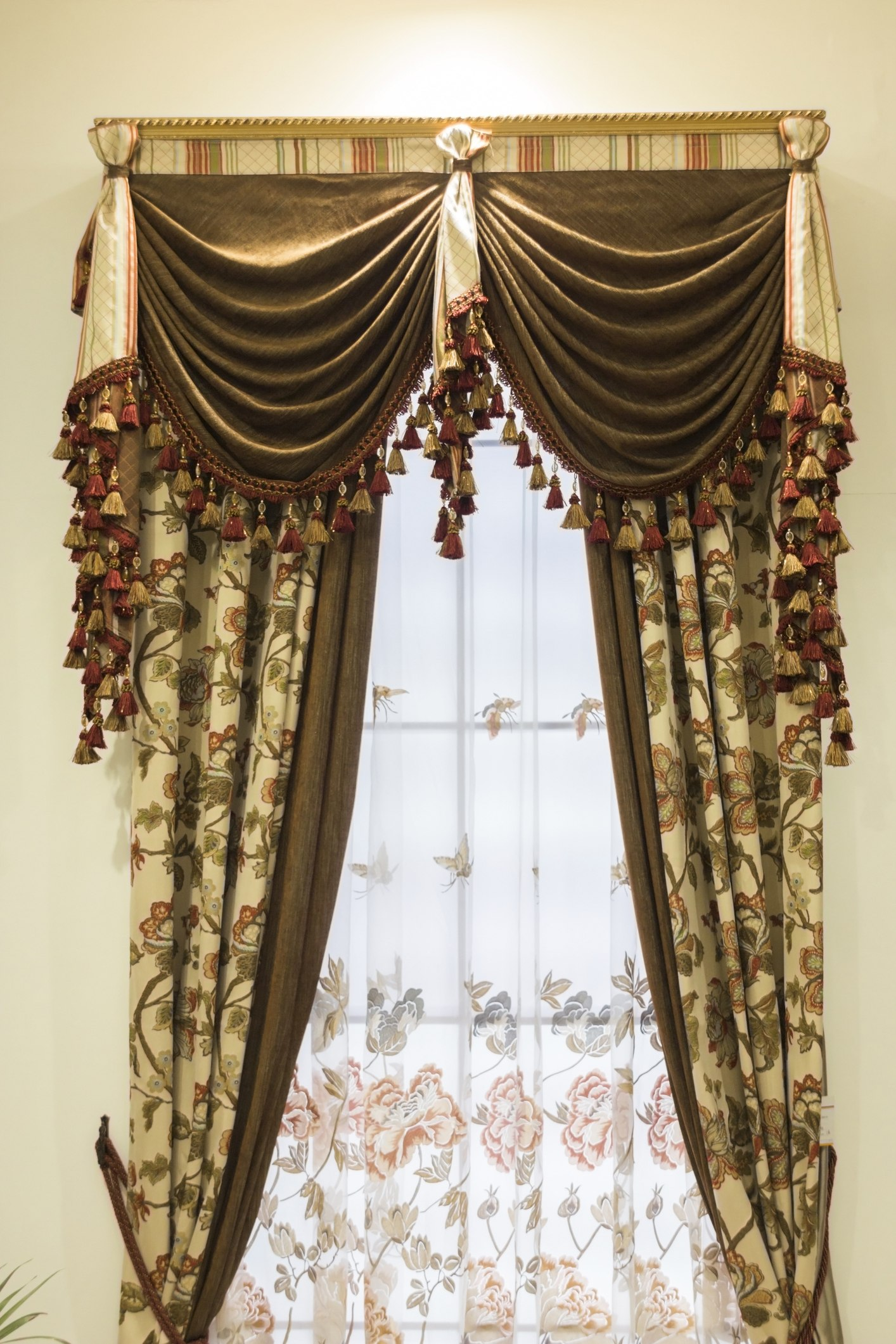 Heavy drapery with valance