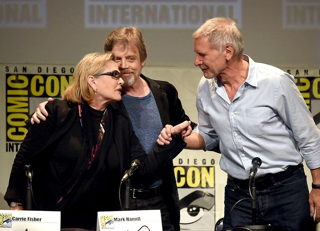 Carrie Fisher, Mark Hamill and Harrison Ford at Comic-Con