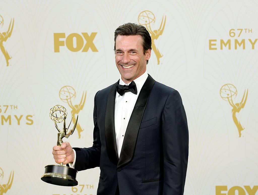Jon Hamm at the 2015 Emmys