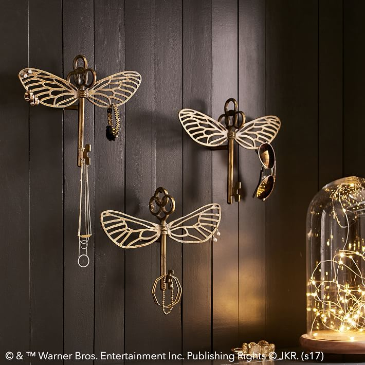 Harry potter flying key jewelry hooks