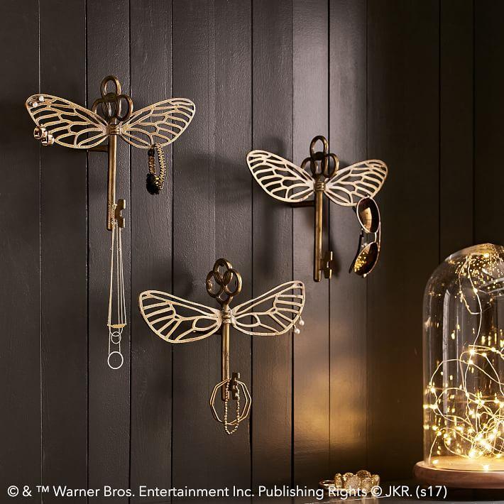 Harry potter flying key jewelry hooks