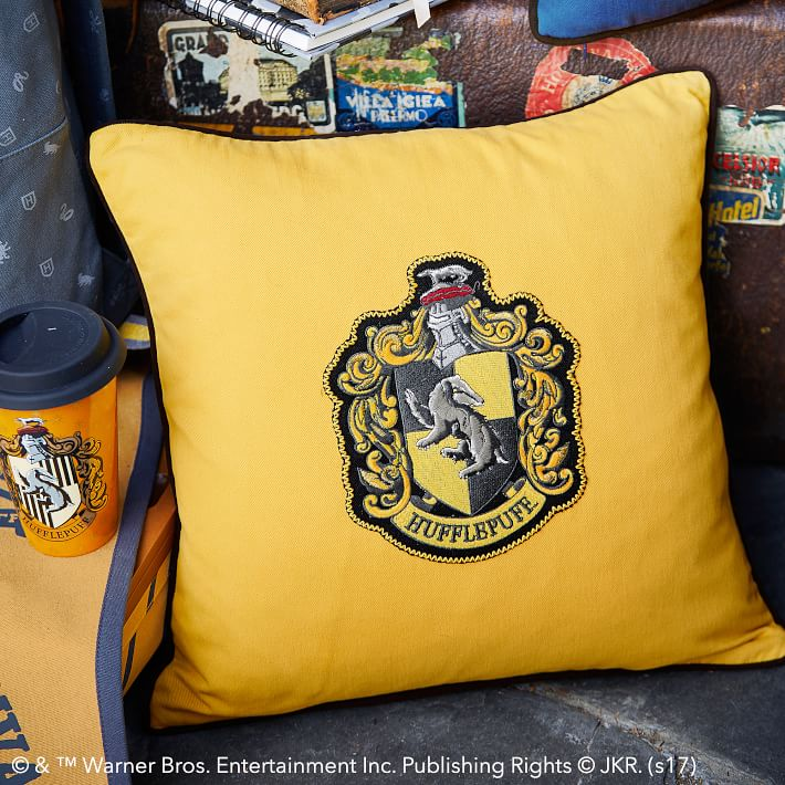 Harry potter house patch pillow cover